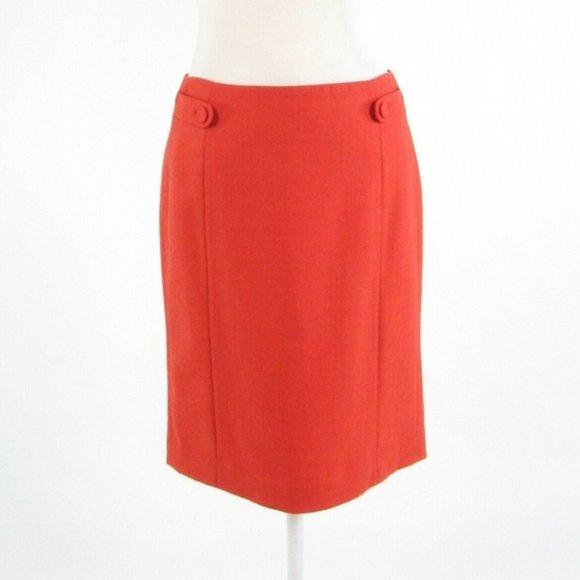 Orange color 100% wool J. CREW pencil skirt size 2